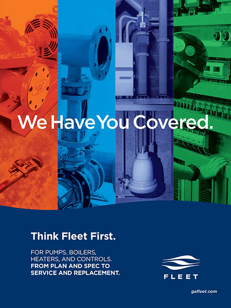 Think Fleet First. We have you covered. For pumps, boilers, heaters, and controls. From plan and spec to service and replacement.