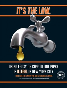 Using Epoxy or CIPP to line pipes is Illegal in New York City