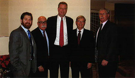 New York City Public Advocate Bill De Blasio Meets With The Plumbing Foundation