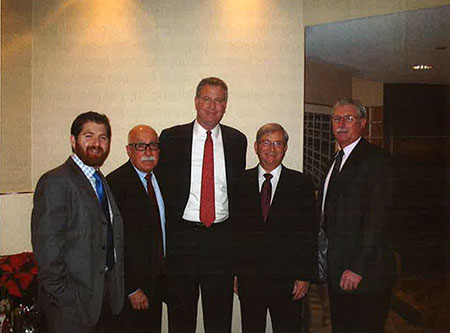 Mayor Bill DeBlasio meets Plumbing Foundation Officers